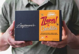 A box of Zingerman's Candy Zzang bites.