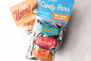 Bags of mini Zzang bars from Zingerman's Candy Company.