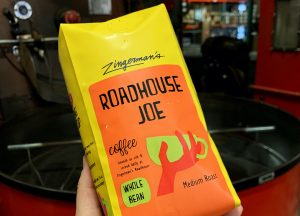 A bag of Roadhouse Joe coffee beans.